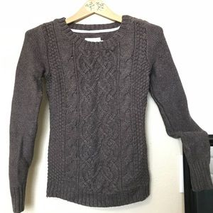 H&M LOGG Cotton blnd cable Knit Longsleeve sweater